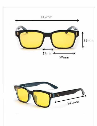 Computerbril met Blueblock glazen op sterkte zwart model