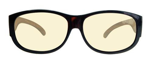Overzet bril met blauw licht filter voorkant
