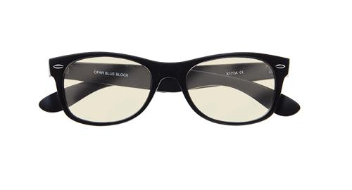 Zwart montuur Computer bril blueblock extra sterke glazen voorkant