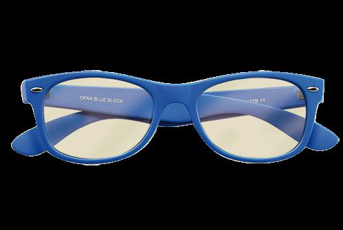 Blueblock blauw model bril