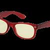 Rode Blueblock bril zonder sterkte