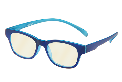 Blueblock bril op sterkte blauw montuur