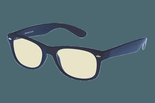 donkerblauwe blueblock bril zonder sterkte