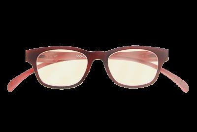 Blueblock bril Rood op sterkte voorkant