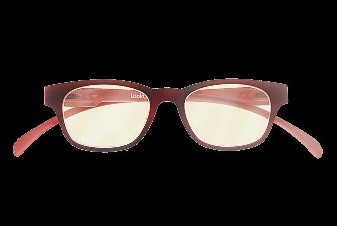 ce9c72219c67c7 Blueblock computerbril Rood op sterkte voorkant