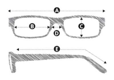 ComputerbrilBlueblockzonder sterkte zwart montuur maten