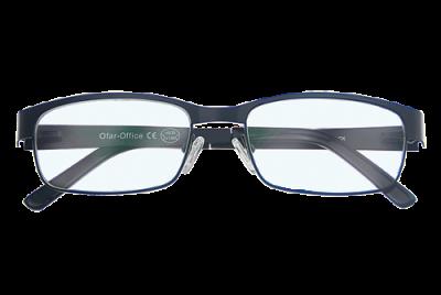 Multifocale Computerbril Zwart voorkant